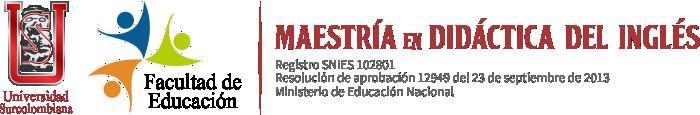 Maestría en Didáctica del Inglés | Universidad Surcolombiana